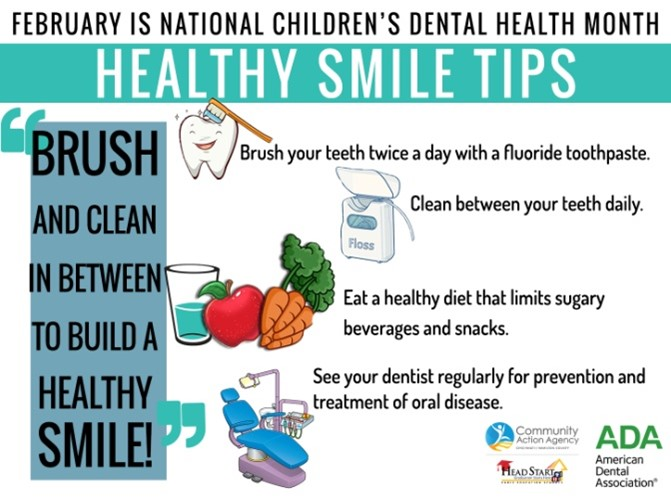 Healthy Smile Tips Graphic